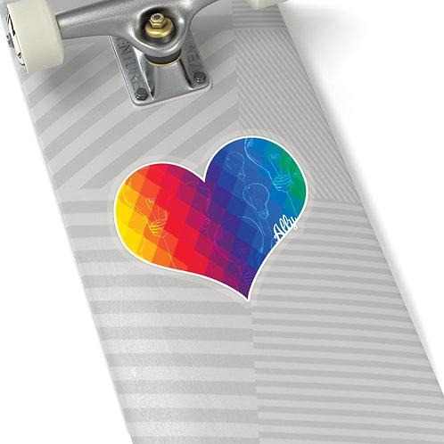 Thinking Heart Sticker