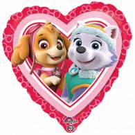 45cm Paw Patrol Girls Love Heart Foil Balloon