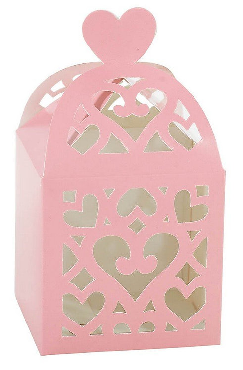 Lantern Paper Favor Box - New Pink