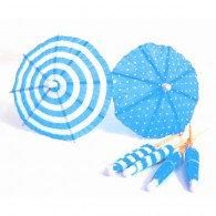 Umbrella Parasol Picks Blue & White