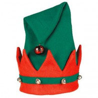Christmas Elf Hat with Bells