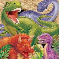 Dino Blast Luncheon Napkins 33cm x 33cm 3 Ply Pack of 16