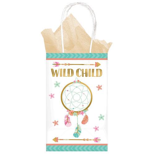 Boho Birthday Girl Printed Paper Kraft Bag