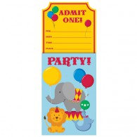 Circus Time Party Invitations Admit One!
