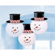 Snowmen Lanterns & Hats