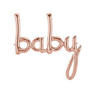 Shape baby Script Rose Gold Air Fill Only 77cm x 86cm