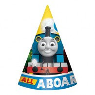 Thomas All Aboard Cone Hats & Elastic Straps