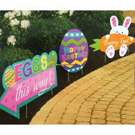 Easter Sidewalk Signs Assorted Designs