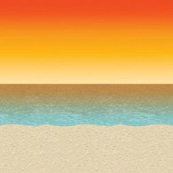 Backdrop Sunset Beach Scene Setter (1.2m x 9.1m)