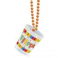 Shot Glass Necklace (Beads) Fiesta