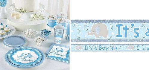 Sweet Baby Elephant Christening Boy, Baptism