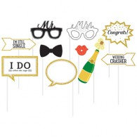 Photo Booth Props Wedding Theme