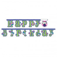 Owl Pal Birthday Jointed Banner