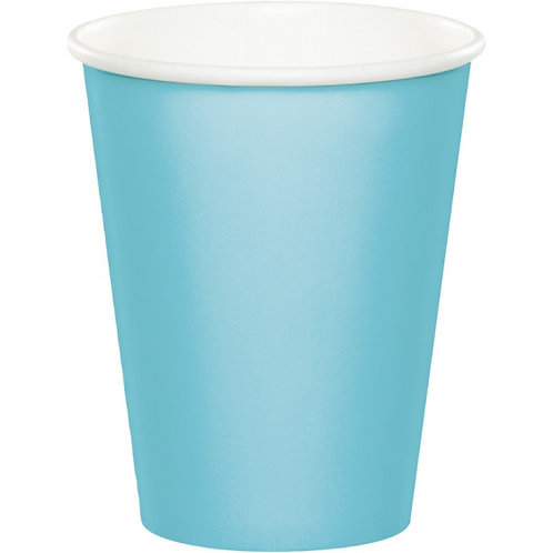 Pastel Blue Cups Paper 266ml Pack of 20