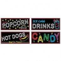 Cutout Signs Neon Food