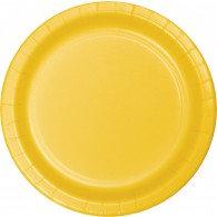 School Bus Yellow Luncheon Plates Paper 18cmPk 24