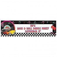 Classic 50's Personalize It! Giant Party Banner