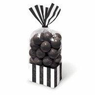 Favor Cello Party Bags Black & White Stripes