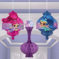 Shimmer & Shine Honeycomb Hanging Decorations
