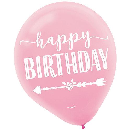 Boho Birthday Girl 30cm Latex Balloons