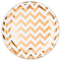 Lunch Plates Chevron Rose Gold Hot