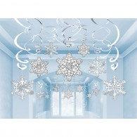 Hanging Swirls Snowflakes