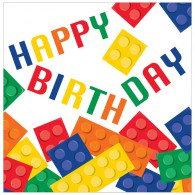 Block Party Lunch Napkins Happy Birthday