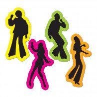 Cutouts 70's Silhouttes Retro Figures