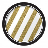 Black & Gold Luncheon Plates
