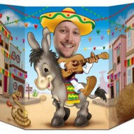Photo Prop Fiesta Donkey