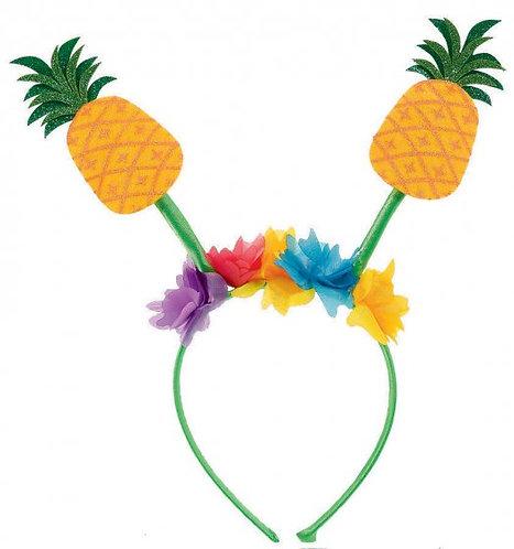 Pineapple Headband Luau Hibiscus Flowers with Pineapple