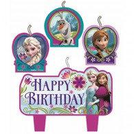 Frozen Candles Happy Birthday