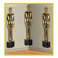 Backdrop Awards Night Male Statuettes