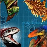 Jurassic World Luncheon Napkins 33cm x 33cm 2 Ply Pack of 16