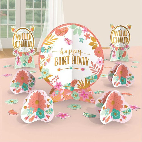 Boho Birthday Girl Table Centrepiece Kit