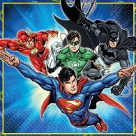 Justice League Luncheon Napkins 33cm x 33cm 2 Ply Pack of 16