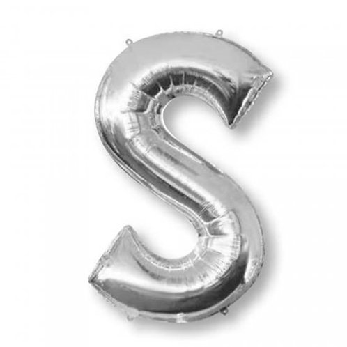 SUPERSHAPE LETTER S 71CM SILVER