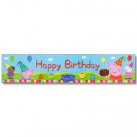 Peppa Pig Banner, 'Happy Birthday'