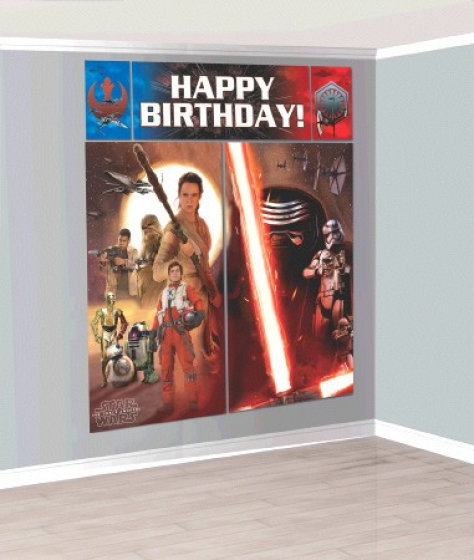 Star Wars Episode 7 Scene Setters Wall Decorations Kit - Plastic