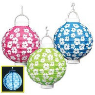 Lanterns Hibiscus Light Up Battery Operated 22cm