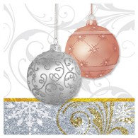 All That Glitters Baubles Beverage Napkins