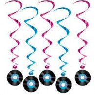 Hanging Decoration Whirls Rock N Roll