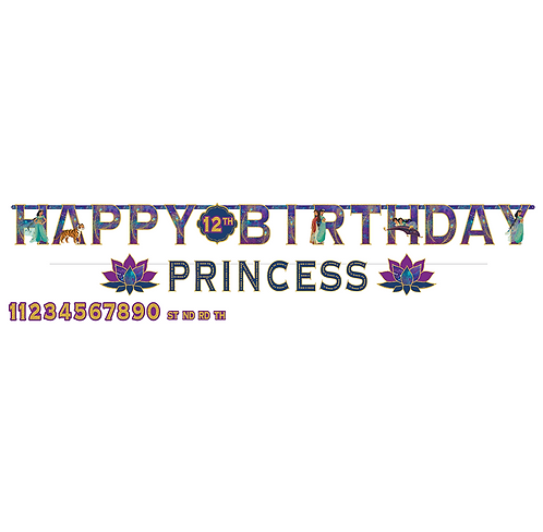Aladdin Jumbo Add An Age Letter Banner Happy Birthday
