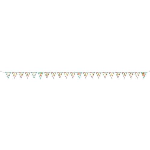 Boho Birthday Girl Pennant Banner