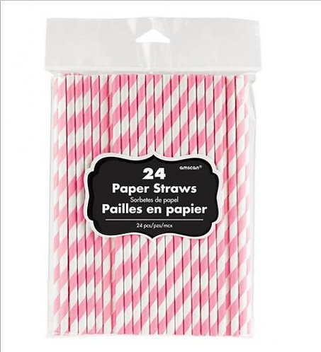 Paper Straw Low Count New Pink