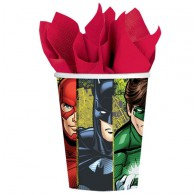 Justice League Cups Paper 266ml Pack of 8