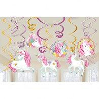 Magical Unicorn Hanging Swirls Decorations