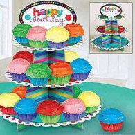 Cupcake Stand Happy Birthday