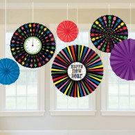 !! Happy New Year Paper Fan Decoration