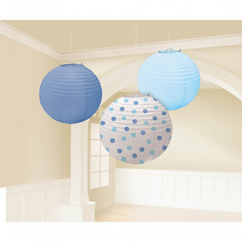 Baby Boy Blue Round Paper Lanterns
